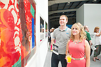 Mark Burke and  Aisling Joyce at the opening of the ABSOLUTE Festival Galway on the Headford Road Galway which is part of the Galway Arts festival