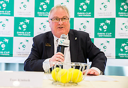 Tom Kinloch during Official Draw of Davis Cup 2018 Europe/Africa zone Group II between Slovenia and Turkey, on April 6, 2018 in Portoroz / Portorose, Slovenia. Photo by Vid Ponikvar / Sportida