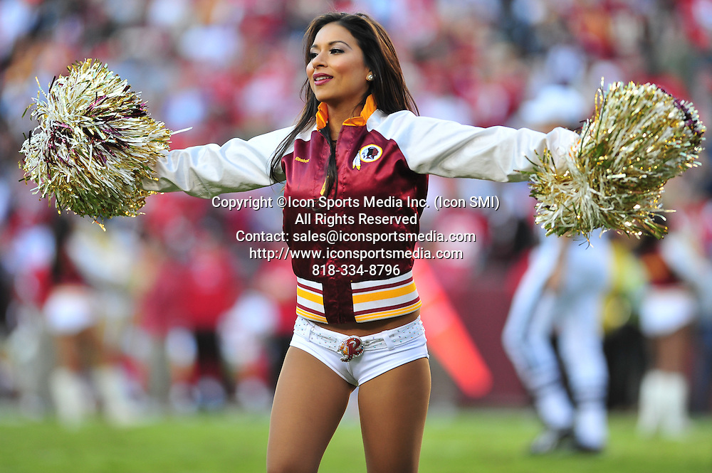 Nov. 06, 2011 - Landover, Maryland, United States of America - Redskins Cheerleading Squad NFL game; San Francisco 49ers at Washington Redskins, final score 49ers 19 Redskins 11