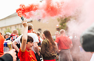 Liverpool fans in party mood in Basel city centre ahead of the UEFA Europa League Final against Sevilla.<br /> Picture by EXPA Pictures/Focus Images Ltd 07814482222<br /> 18/05/2016<br /> ***UK &amp; IRELAND ONLY***<br /> EXPA-FEI-160518-0007.JPG