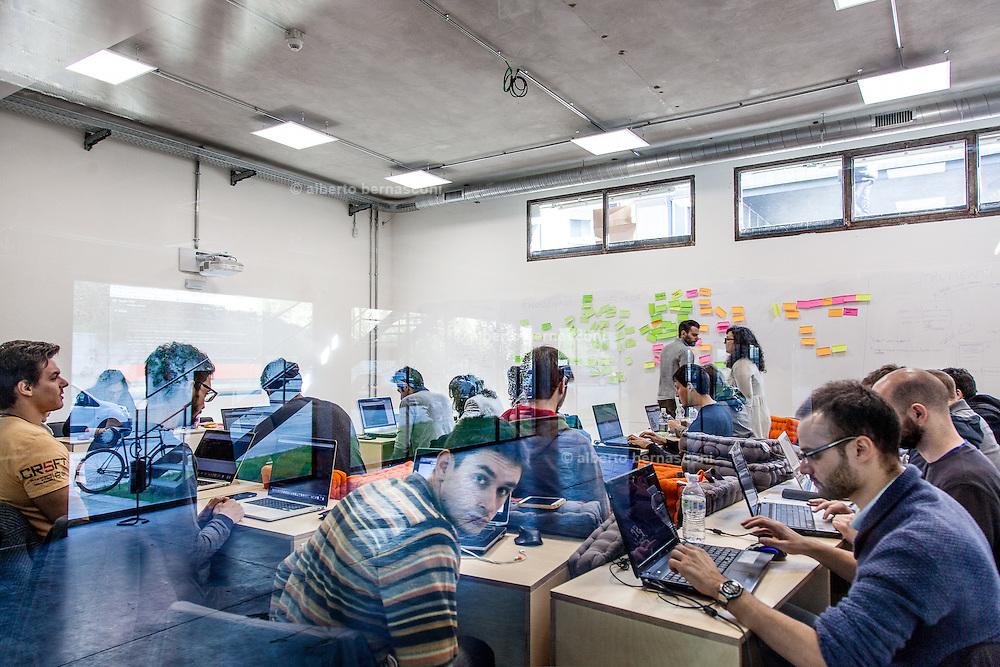 Milan, Talent Garden coworking company. Workshop room