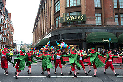 © Licensed to London News Pictures.02/11/2013. London, UK. The annual Harrods Christmas Parade on November 2 in Knightsbridge, London. Photo credit : Peter Kollanyi/LNP