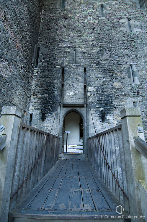 Draw bridge at Bunratty Castle, County Clare, Ireland.