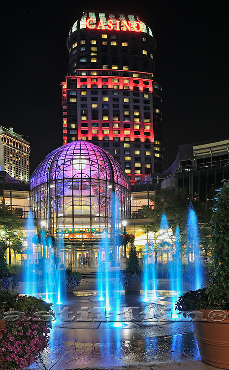 Niagara Falls Casino at night, Ontario, Canada