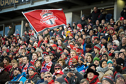 December 9, 2017 - Toronto, Ontario, Canada - Toronto FC fans cheer on the team during the MLS Cup championship match at BMO Field in Toronto, Canada.  Toronto FC defeats Seattle Sounders 2 to 0. (Credit Image: © Mark Smith via ZUMA Wire)