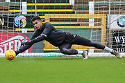 Forest Green Rovers goalkeeper Robert Sanchez(1) warming up during the EFL Sky Bet League 2 match between Yeovil Town and Forest Green Rovers at Huish Park, Yeovil, England on 8 December 2018.