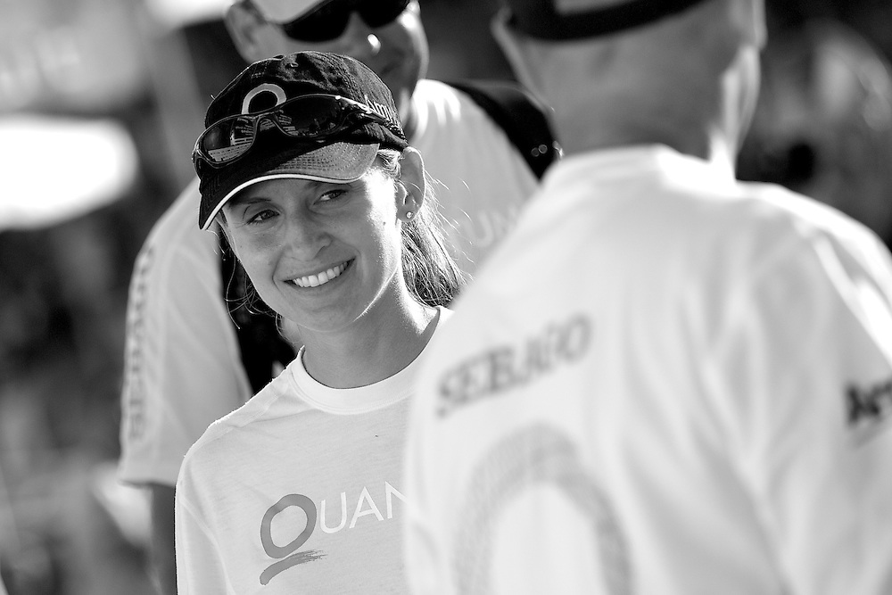 SPAIN, Barcelona, AUDI MedCup, 25th July 2010,  Camper Regatta - Conde de Godo Trophy, Prizegiving ceromony, Libby Tomlinson, Quantum Racing.