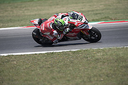 July 7, 2018 - Misano, Italy, Italy - 50 Eugene Laverty  IRL Aprilia RSV4 RF Milwaukee Aprilia during the Motul FIM Superbike Championship - Italian Round Superpole race during the World Superbikes - Circuit PIRELLI Riviera di Rimini Round, 6 - 8 July 2018 on Misano, Italy. (Credit Image: © Fabio Averna/NurPhoto via ZUMA Press)