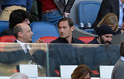 April 7, 2018 - Rome, Italy - Francesco Totti during the Italian Serie A football match between A.S. Roma and ACF Fiorentina at the Olympic Stadium in Rome, on april 07, 2018. (Credit Image: © Silvia Lore/NurPhoto via ZUMA Press)