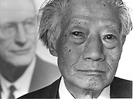 Dr. Min-Cheuh Chang, 82, co-developer of the birth control pill. He was principal scientist emeritus at the Worcester Foundation for Experimental Biology in Shrewsbury.  He is pictured in a 1989 photograph in front of a portrait of Hudson Hoagland, founder of the Worcester Foundation.