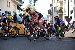 Chantal Blaak (NED) of Boels-Dolmans Cycling Team rides on La Course by Le Tour de France, a 121 km road race starting and finishing in Pau, France on July 19, 2019. Photo by Balint Hamvas/velofocus.com