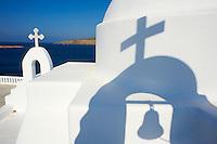 Grèce, Les Cyclades, Ile de Mykonos, église à Agios Sostis // Greece, Cyclades, Mykonos island, church at Agios Sostis