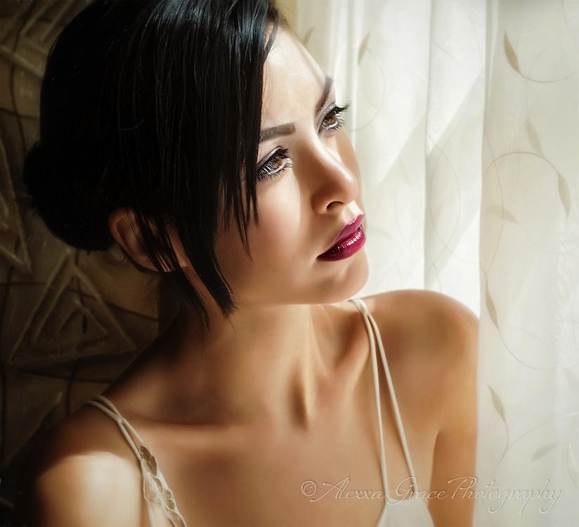 Model: LuxBot Lacheln   Styling: Alexxa Grace  www.alexxagrace.com  www.instagram.com/alexxagrace/  #beauty #fineartphotography #hair #lighting  #beauty #glamour  #windowlight #alexxagracephotography