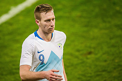 Robert Beric of Slovenia during friendly football match between National teams of Slovenia and Belarus, on March 27, 2018 in SRC Stozice, Ljubljana, Slovenia. Photo by Vid Ponikvar / Sportida
