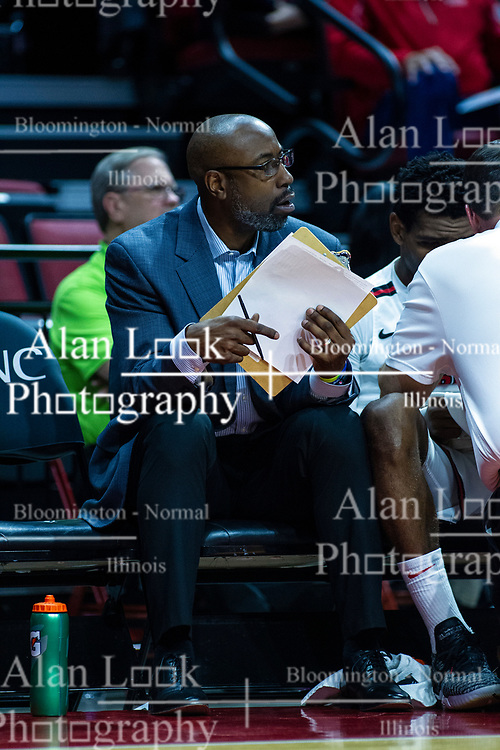 NORMAL, IL - October 23: Brian Reese during a college basketball game between the ISU Redbirds and the Truman State Bulldogs on October 23 2019 at Redbird Arena in Normal, IL. (Photo by Alan Look)