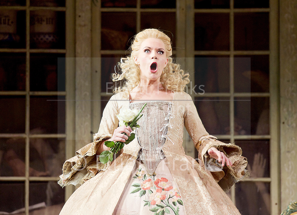 The Barber of Seville <br /> by Rossini <br /> English National Opera, London Coliseum, London, Great Britain <br /> Rehearsal <br /> 25th September 2015 <br /> <br /> <br /> <br /> Kathryn Rudge as Rosina <br /> <br /> <br /> <br /> Photograph by Elliott Franks <br /> Image licensed to Elliott Franks Photography Services