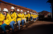 Tourists riding mine train and enjoying Queen Mine tour, Bisbee, Arizona..Subject photograph(s) are copyright Edward McCain. All rights are reserved except those specifically granted by Edward McCain in writing prior to publication...McCain Photography.211 S 4th Avenue.Tucson, AZ 85701-2103.(520) 623-1998.mobile: (520) 990-0999.fax: (520) 623-1190.http://www.mccainphoto.com.edward@mccainphoto.com