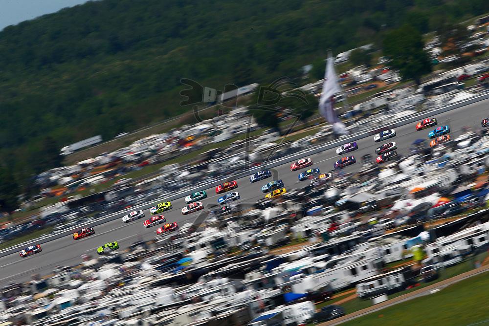 May 07, 2017 - Talladega, Alabama, USA: Kyle Busch (18) battles for position during the GEICO 500 at Talladega Superspeedway in Talladega, Alabama.