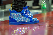 Detail of shoes of Pierre-Emerick Aubameyang of Arsenal  during the NBA London Game match between Washington Wizards and New York Knicks at the O2 Arena, London, United Kingdom on 17 January 2019.