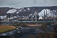 Piles of coke at U.S. Steel's Clairton Plant in Clairton.