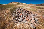 Chumash burial site, Santa Cruz Island, Channel Islands National Park, California USA