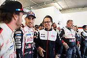 Shigeki Tomoyama, Sébastien Buemi<br /> TOYOTA GAZOO  Racing. <br /> Le Mans 24 Hours Race, 11th to 17th June 2018<br /> Circuit de la Sarthe, Le Mans, France.