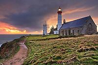 Sunset on the lighthouse of Pointe St-Mathieu by a cloudy evening<br /> <br /> Coucher de soleil sur le phare de la Pointe Saint-Mathieu par une soir&eacute;e nuageuse