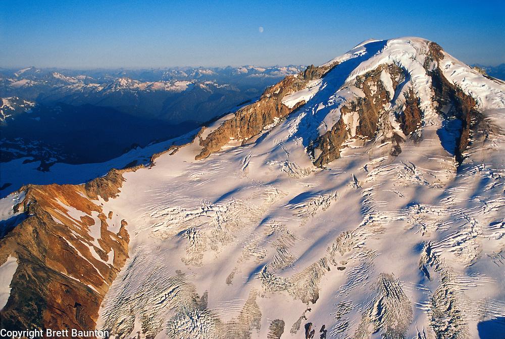 Mt. Baker Wilderness Area, Coleman and Roosevelt Glacier, Aerial,
