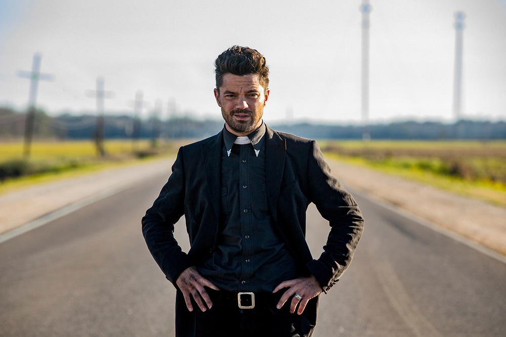 Dominic Cooper as Jesse Custer in Preacher, Season 2, Episode 1 - Photo Credit: Skip Bolen/AMC