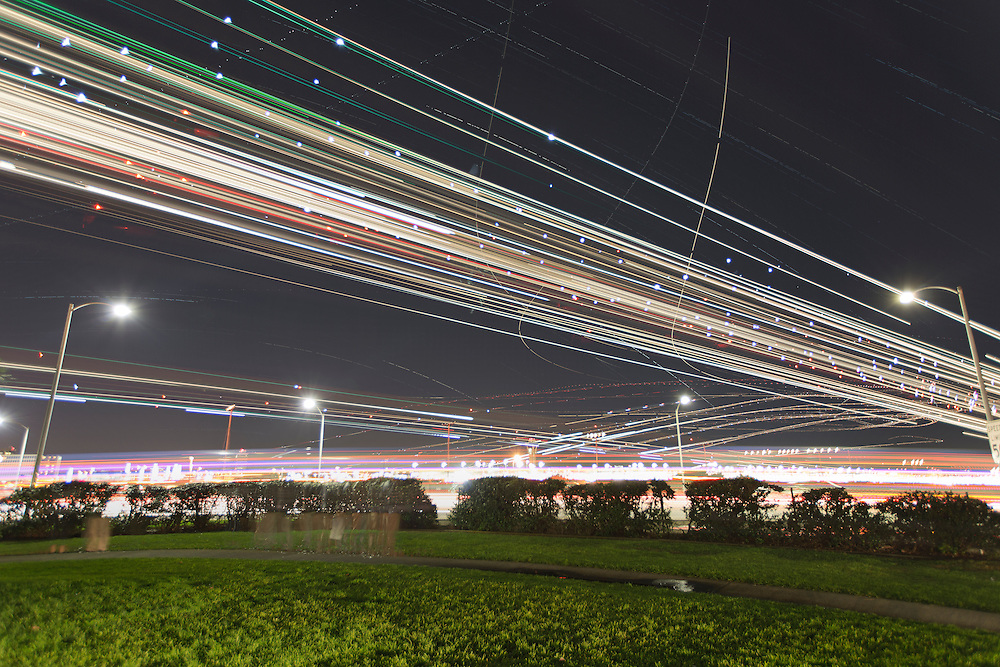 Los Angeles Airplane Trails on December 23, 2012. © Tom Turner Photography 2013
