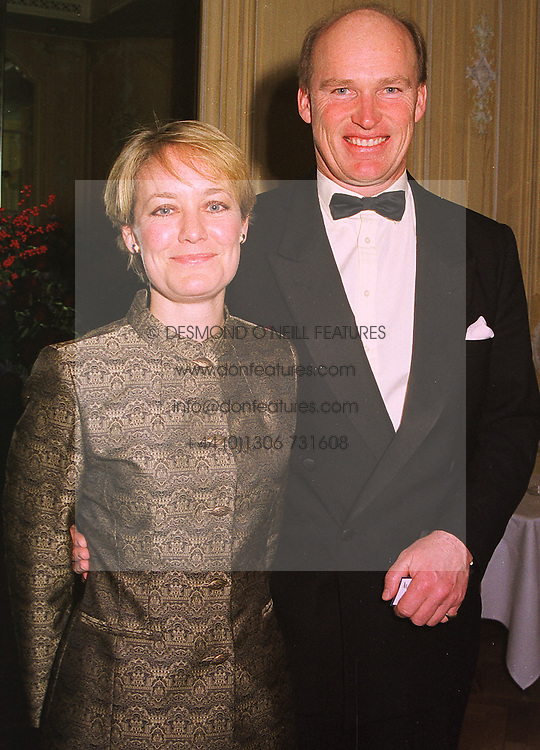 MR & MRS JOHN GOSDEN he is the race horse trainer, at a dinner in London on 17th November 1998.MMB 12