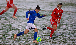 CESENA, ITALY - Tuesday, January 22, 2019: Italy's Valentina Bergamaschi during the International Friendly between Italy and Wales at the Stadio Dino Manuzzi. (Pic by David Rawcliffe/Propaganda)