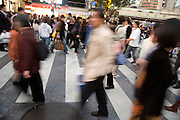 crowd at the pedestrian crossing Hachiko square Shibuya Japan Tokyo