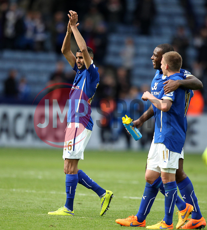 Leicester City's Riyad Mahrez applauds the Leicester fans - Photo mandatory by-line: Robbie Stephenson/JMP - Mobile: 07966 386802 - 09/05/2015 - SPORT - Football - Leicester - King Power Stadium - Leicester City v Southampton - Barclays Premier League