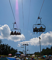 """Soulfest'ers"" enjoyed the views when the rains left and brought clear skies to Gunstock Mountain Resort on Saturday for the final day of Soulfest 2009.  (Karen Bobotas/for the Laconia Daily Sun)"