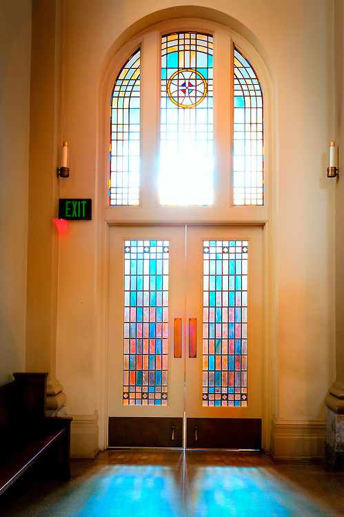 Stained glass doorway, St. Mark's Cathedral, Seattle, WA