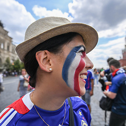 French fan on the red square before the FIFA World Cup Group C match between Denmark and France at Luzhniki Stadium on June 26, 2018 in Moscow, Russia. (Photo by Anthony Dibon/Icon Sport)