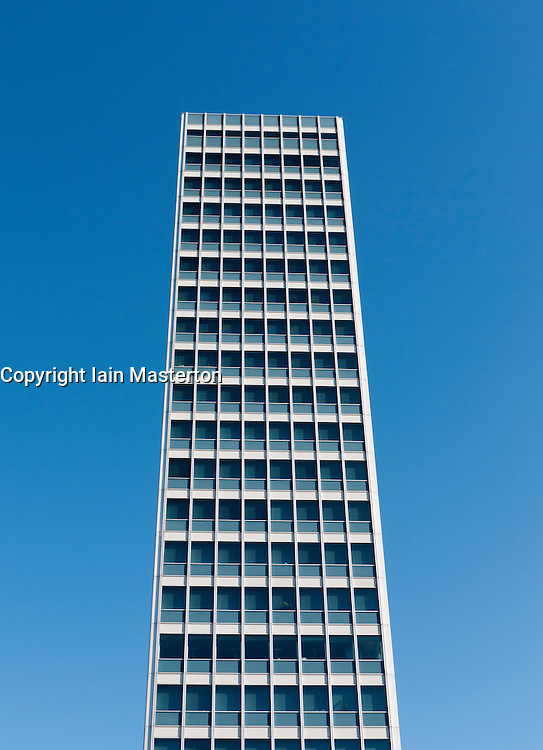 Modern high-rise office building in Dusseldorf Germany