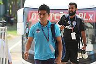 Sunil Chhetri of Bengaluru FC arrive during the 2nd semi final match of the Hero Super Cup between Mohun Bagan and Bengaluru FC held at the Kalinga Stadium, Bhubaneswar, India on the 17th April 2018<br /> <br /> Photo by: Deepak Malik / SPORTZPICS
