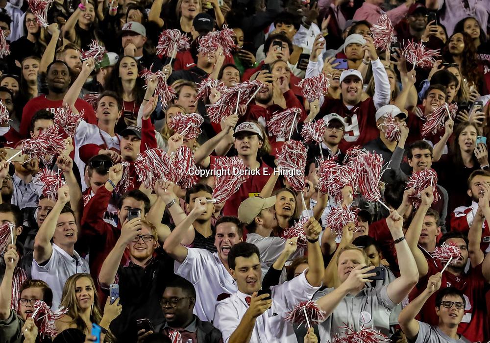 Nov 3, 2018; Baton Rouge, LA, USA; Alabama Crimson Tide fans celebrate during the fourth quarter against the LSU Tigers at Tiger Stadium. Mandatory Credit: Derick E. Hingle-USA TODAY Sports