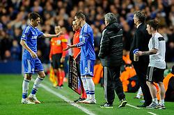 Chelsea Midfielder Oscar (BRA) is substituted late on for Forward Fernando Torres (ESP) - Photo mandatory by-line: Rogan Thomson/JMP - 07966 386802 - 08/04/2014 - SPORT - FOOTBALL - Stamford Bridge, London - Chelsea v Paris Saint-Germain - UEFA Champions League Quarter-Final Second Leg.