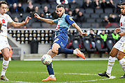 Wycombe Wanderers midfielder Nick Freeman (22) takes a shot at goal during the EFL Sky Bet League 1 match between Milton Keynes Dons and Wycombe Wanderers at stadium:mk, Milton Keynes, England on 1 February 2020.