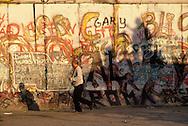 DEU, Germany, Berlin, the wall at the Potsdam square.....DEU, Deutschland, Berlin, die Mauer am Potsdamer Platz...1988