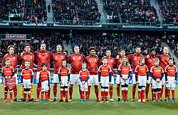 23.03.2018, Wörthersee Stadion, Klagenfurt, AUT, Testspiel, Österreich vs Slowenien, im Bild Teamfoto v.l. Julian Baumgartlinger (AUT), Heinz Lindner (AUT), Sebastian Proedl (AUT), Stefan Ilsanker (AUT), Martin Hinteregger (AUT), Valentino Lazaro (AUT), Stefan Lainer (AUT), Alessandro Schoepf (AUT), Guido Burgstaller (AUT), David Alaba (AUT), Marko Arnautovic (AUT) // Teamphoto v.l. Julian Baumgartlinger (AUT), Heinz Lindner (AUT), Sebastian Proedl (AUT), Stefan Ilsanker (AUT), Martin Hinteregger (AUT), Valentino Lazaro (AUT), Stefan Lainer (AUT), Alessandro Schoepf (AUT), Guido Burgstaller (AUT), David Alaba (AUT), Marko Arnautovic (AUT) during the international football friendly match between Austria and Slovenia at the Wörthersee Stadion in Klagenfurt, Austria on 2018/03/23. EXPA Pictures © 2018, PhotoCredit: EXPA/ Johann Groder23.03.2018, Wörthersee Stadion, Klagenfurt, AUT, Testspiel, Österreich vs Slowenien, im Bild Teamfoto v.l. Julian Baumgartlinger (AUT), Heinz Lindner (AUT), Sebastian Proedl (AUT), Stefan Ilsanker (AUT), Martin Hinteregger (AUT), Valentino Lazaro (AUT), Stefan Lainer (AUT), Alessandro Schoepf (AUT), Guido Burgstaller (AUT), David Alaba (AUT), Marko Arnautovic (AUT) // Teamphoto v.l. Julian Baumgartlinger (AUT), Heinz Lindner (AUT), Sebastian Proedl (AUT), Stefan Ilsanker (AUT), Martin Hinteregger (AUT), Valentino Lazaro (AUT), Stefan Lainer (AUT), Alessandro Schoepf (AUT), Guido Burgstaller (AUT), David Alaba (AUT), Marko Arnautovic (AUT) during the international football friendly match between Austria and Slovenia at the Wörthersee Stadion in Klagenfurt, Austria on 2018/03/23. EXPA Pictures © 2018, PhotoCredit: EXPA/ Johann Groder