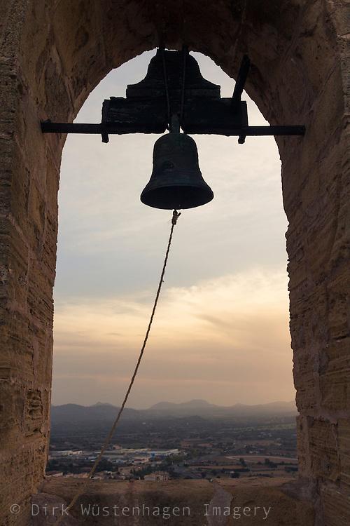 Glocke Kapelle Castell Capdepera, Mallorca, Spanien