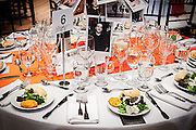 SOPAC 2016 Gala table settings for first course.