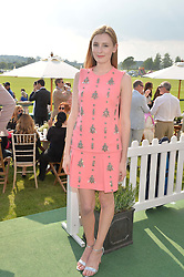 LAURA CARMICHAEL at the St.Regis International Polo Cup at Cowdray Park, Midhurst, West Sussex on 17th May 2014.