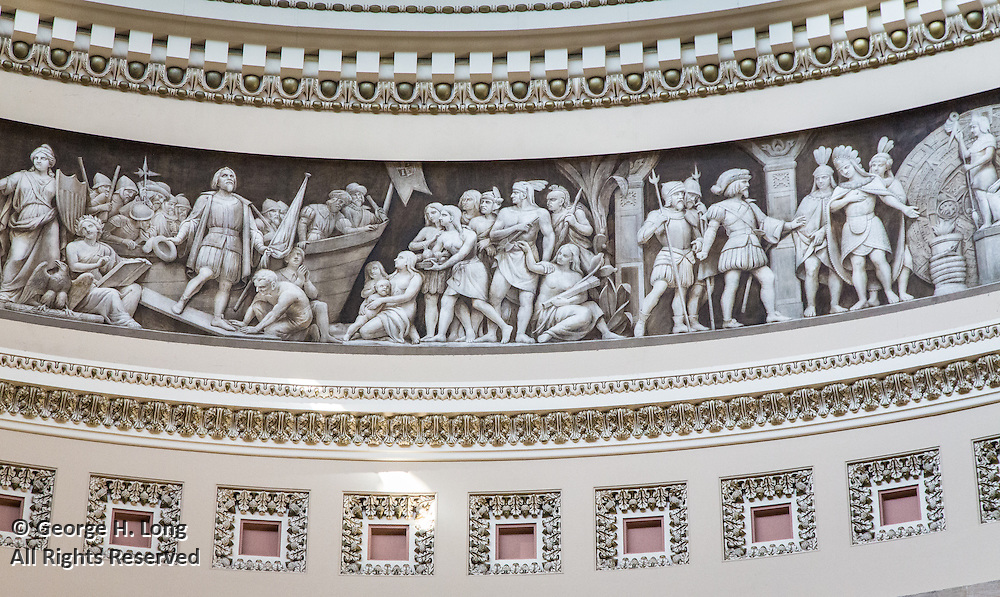 Capitol dome interior architectural detail; Tour of the U.S. Capitol on Cathy Long's birthday