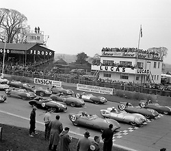 The Starting Grid at Goodwood Race track, Sussex in 1958.