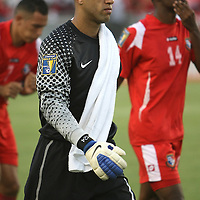 United States goalkeeper Tim Howard prior to a CONCACAF Gold Cup soccer match between the United States and Panama on Saturday, June 11, 2011, at Raymond James Stadium in Tampa, Fla. (AP Photo/Alex Menendez)